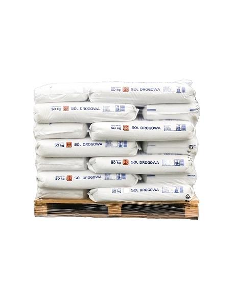 Sól drogowa Kłodawa worek 50kg paleta 1050kg (21 worków)