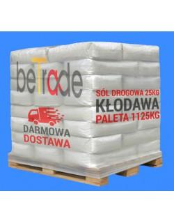 Sól drogowa worek 25kg Kłodawa paleta 1125kg (45 worków)